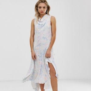 ASOS WHITE Snake Print Sleeveless Midi Dress